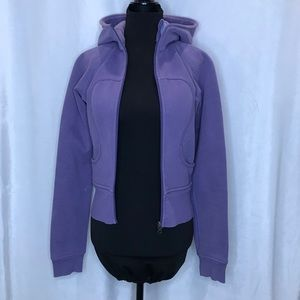 Lululemon OG vintage lavender scuba zip up hoodie